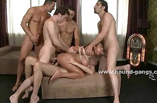 Busty babe dreams her pussy and ass drilling in violent gangbang sex video.  xxx porn