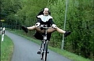 Nun on bike.  uniform fuck   xxx porn