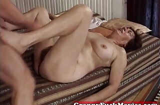 Hairy granny slit fucked by pro.  xxx porn