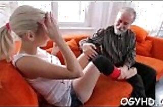 Avid old dude fucks a young gal.  xxx porn