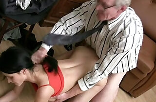 Old wanton stud in glasses fucks slim dark haired girlie fro.  xxx porn