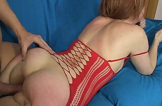 ANAL TRAINING OF A GORGEOUS REDHEAD IN RED LINGERIE.  xxx porn