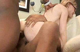 Nina Hartley Takes On Two Big Black Cocks.  xxx porn