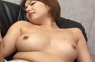 Japanese babe in stockings gets her haiy pussy fingered Uncensored.  xxx porn