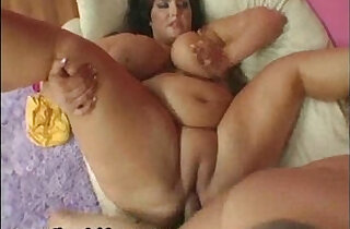 Brunette babe With curvy Huge Tits Swallons Ramons Huge and hard big Cock.  xxx porn