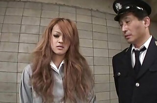 Asian sexy and long hair a suspect woman getting sex all hole at the jail.  xxx porn