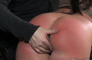 OTK Spanking Slut In Rope Bondage.  spanked  ,  tits   xxx porn