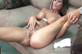 Mature hottie Leeanna Heart is fucking her toy.  xxx porn