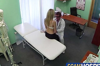 Doctor ramm the patients sweet pussy in his examining table.  xxx porn