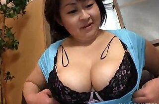Fat Japanese woman gives titjob and sucks my dick.  xxx porn