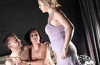 Threesome on the Sofa.  xxx porn