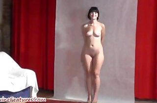 19yo cutie shows body at her first erotic CASTING.  xxx porn