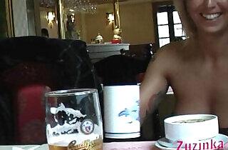 Natural exhibitionist in Chinese Restaurant.  xxx porn