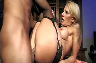 Hot busty mommy fucks her ass with son on table in kitchen.  mom xxx   xxx porn