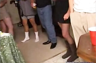 Amateur Cuckold Wife Gangbanged At Private Party By Husbands Friends.  cheated  ,  cuckold sex  ,  friends  ,  party   xxx porn