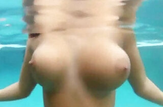 Oily Babe Poolside Masturbation.  slim   xxx porn