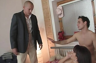 Boyfriend finds his sexy mature lady gets fucked.  xxx porn
