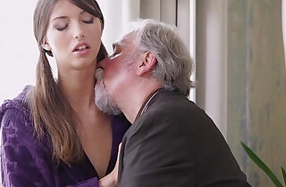 Young Kira was feeling pretty horny and even though this dude was old she had to.  xxx porn