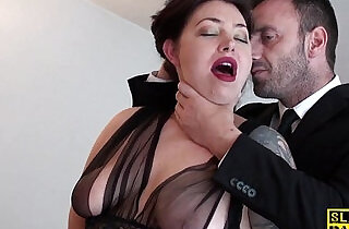 English slut gets chocked.  xxx porn