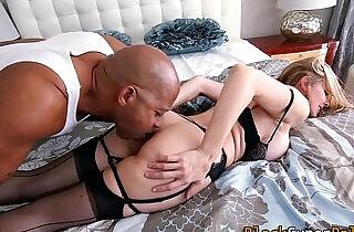 Hot milf sucks and fucks black big cock.  MILF porno  ,  sucking   xxx porn