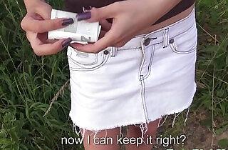 Euro girlnextdoor sucks cock for cash.  xxx porn