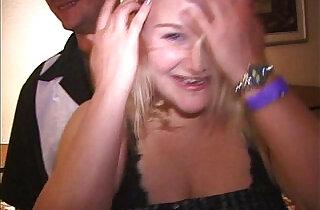 Hubby slaps phat little MILF Makes her suck fuck friends dicks and cunts.  MILF porno  ,  sucking   xxx porn