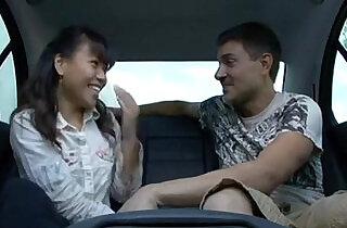 Hot asian sucks fucks white guy in car and receives facial.  xxx porn